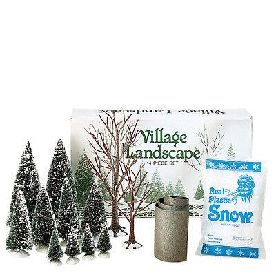 Dept 56 Village Landscape 14 Piece Box Set Accessory D56 NEW 52590 Christmas