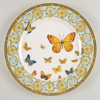 Grace's Teaware BLUE BUTTERFLY Dinner Plate 10876216