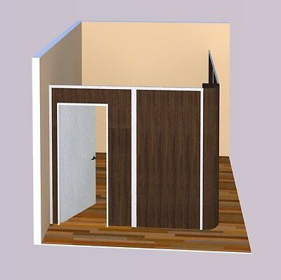 Multi-color Sunwalls Modular Walls - 2 Walled L Rounded Upgrade 8x8