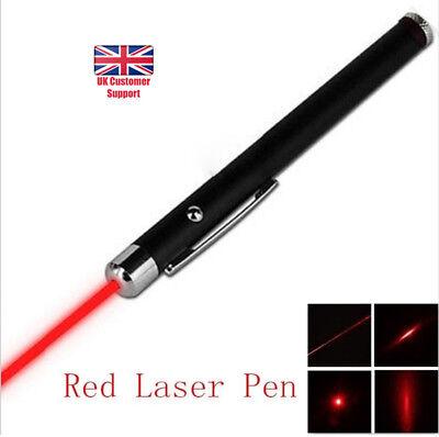Red Laser Pointer Pen Light High Beam Grade Ultra Bright Premium 1mW Lazer UK
