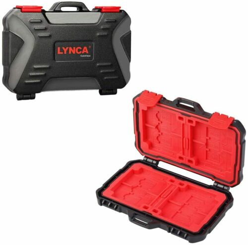 LYNCA Memory Card Case Holder Hard Protector Professional Water Resistant Box