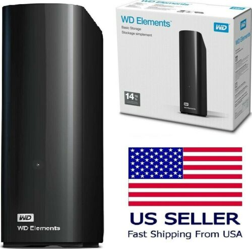 💽 WD Western Digital Elements Portable External Desktop Storage Drive USB 3.0