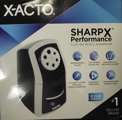 X-acto 1772 Sharpx Electric Pencil Sharpener Corded Blacksilver School Large Of