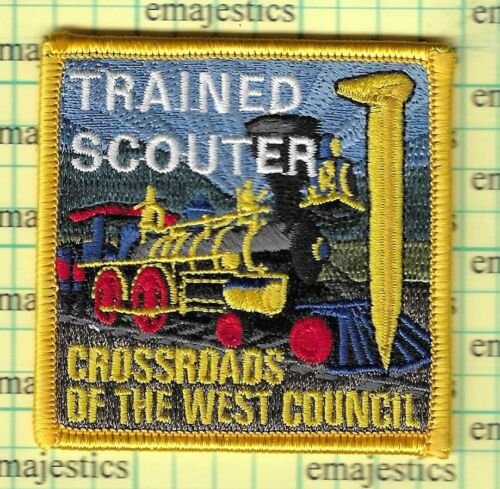 BSA CROSSROADS OF THE WEST COUNCIL TRAINED SCOUTER PATCH