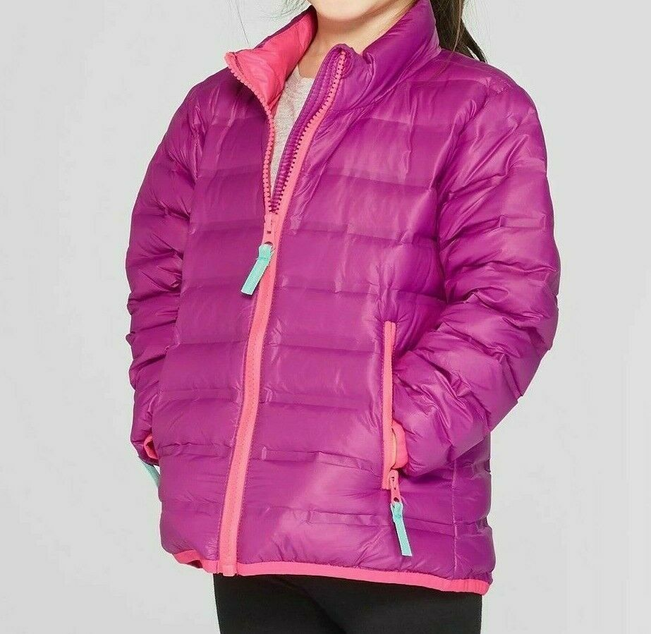 NEW Cat & Jack Girls' Down Puffer Jacket – Fuschia Purple – Small 6/6x Clothing, Shoes & Accessories