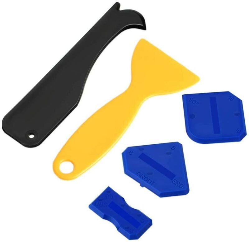 5Pack Caulking Tool Kit, Caulking Removal Tool and Finishing Tools,Modern Multi