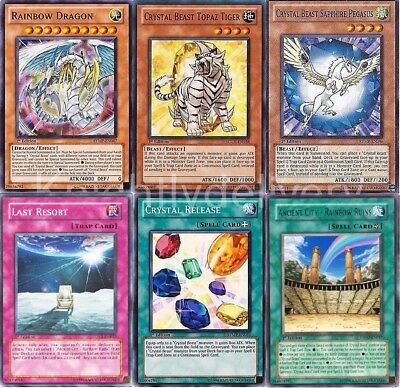 Jesse Anderson Complete Deck - Rainbow Dragon - Crystal Beast Ruby - 40 Cards NM