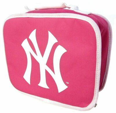 Lunchbox MLB Baseball New York Yankees lunch box pink handle - New York Yankees Lunch Box