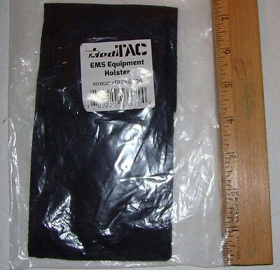 3-emt Ems Paramedic Nylon Holster Made By Meditac New Black Pair
