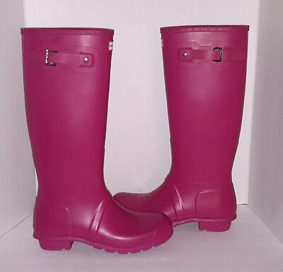 Hunter Rain Boots Color Raspberry Matte size 10