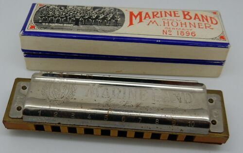 hohner marine band harmonica no 1896 key c made in germany ebay. Black Bedroom Furniture Sets. Home Design Ideas