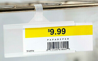 25x Retailers-paradise Sale Price Sign Tag Upc Label Wire Rack Shelf Holders
