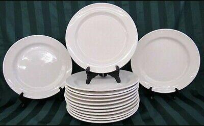 14 Oneida Classic Heavy Restaurant Ware 12 Wide Rim Dinner Plates White