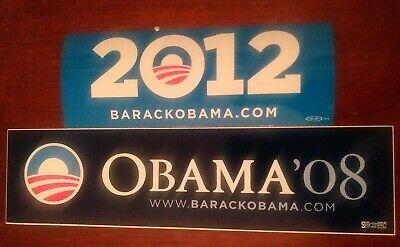 Barack Obama Official 2008 2012 President Campaign Bumper Sticker Lot of 2