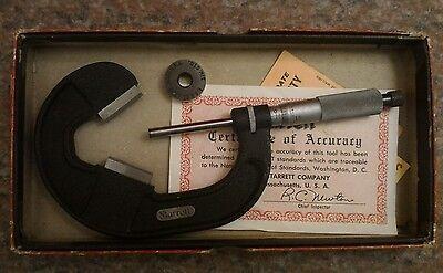 Starrett V-anvil Micrometer 483 1-2