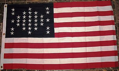 SEWN COTTON, Civil War Flag, 33 Star American Flag, Fort Sumter Flag