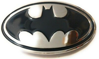 ~ NEW  BATMAN Chrome and Black ~ METAL BELT BUCKLE ~ great for comic con - Batman Belt