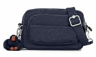 NWT KIPLING Merryl Crossbody Fanny Pack Monkey Water Resistant True Blue AC2491