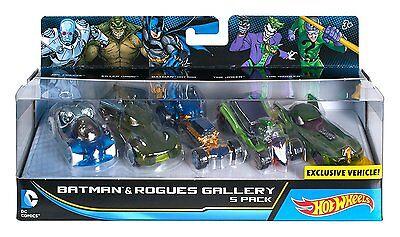 New Hot Wheels DC Comics Batman & Rogues Gallery Vehicle 5 Pack