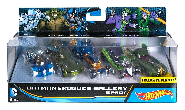 Купить New Hot Wheels DC Comics Batman & Rogues Gallery Vehicle 5 Pack