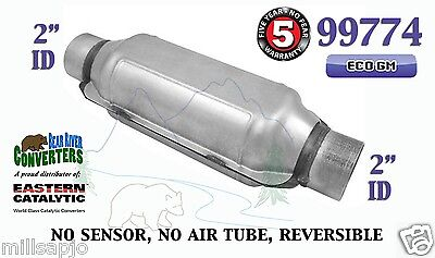 99774 Eastern Universal Catalytic Converter Eco Gm Catalyst 2  Pipe 12  Body