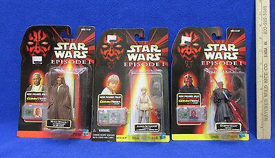 Star War Episode I Figures Anakin Skywalker Darth Maul Mace Windu Sealed  Lot 3
