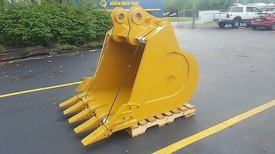 New 54 Fracking Heavy Duty Bucket Samsung Se350lc-2 Excavators W Coupler Pins