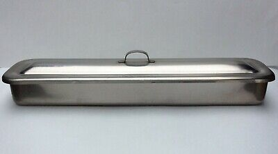 Volrath Surgical Instrument Tray 8317 Stainless Steel 17 X 4 X 2 With Lid