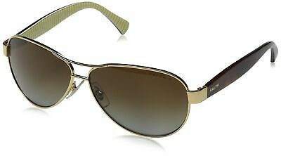 Ralph by Ralph Lauren Women's 0RA4096 Polarized Aviator Sunglasses, Gold, (Ralph Lauren Women's Aviator Sunglasses)