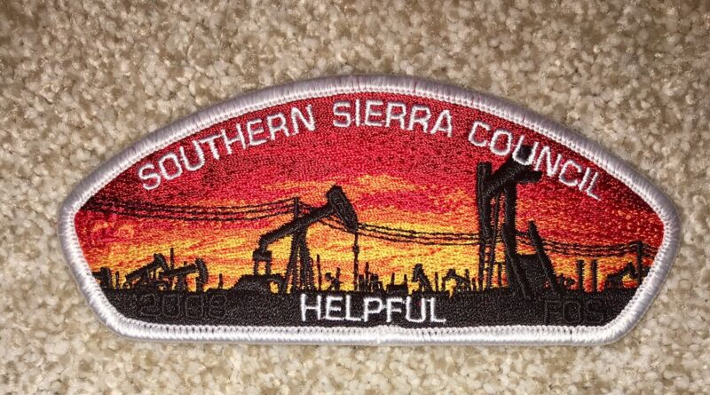 Boy Scout Southern Sierra Council FOS Helpful Wht Csp / SAP Bakersfield CA Mint