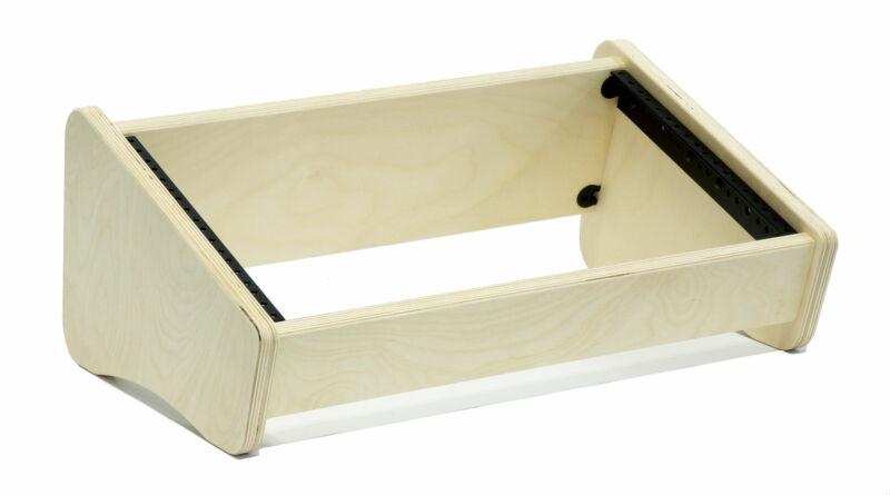 6 Space (6U) | Unfinished Baltic Birch Dual Angle Desktop Rack Pod