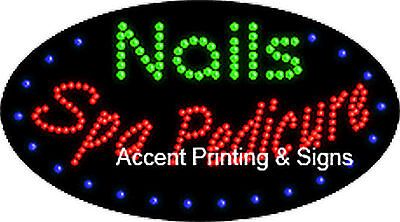 Nails Spa Pedicure Flashing Animated Real Led Sign