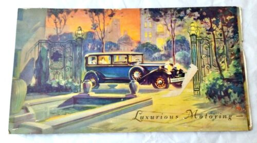Packard Advertising Luxurious Motoring Auto Slides as Opened- Ink Blotter Back