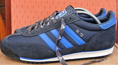 ADIDAS SL72 VINTAGE Men`s Trainers (Size 10UK) Navy & blue) (Great condition)