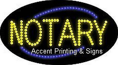 Notary Flashing Animated Real Led Sign