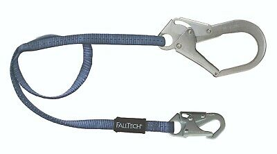 Falltech Safety Lanyard 82063 6ft Single Leg Lanyard 1 Snap 1 Rebar Hook-1ea