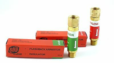 Flashback Arrestors - Regulator - Oxygenacetylene Pair - Sa Original 288