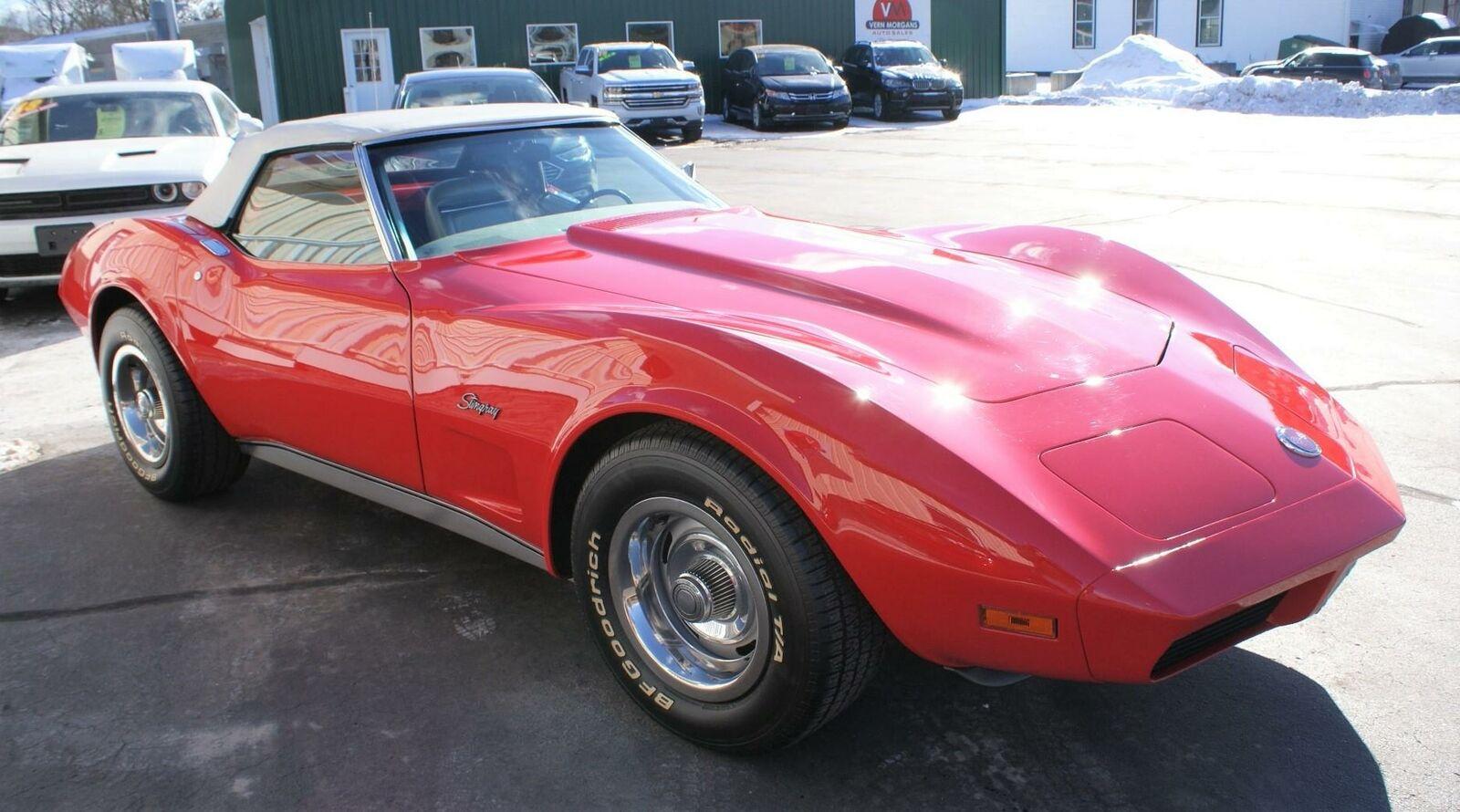 1974 Red Chevrolet Corvette  L82   C3 Corvette Photo 7