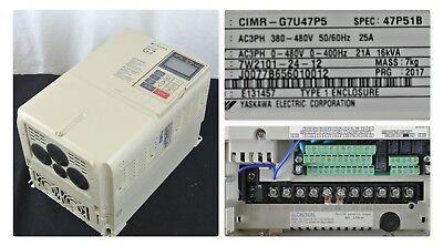 New 2017 Yaskawa Cimr-g7u47p5 Output 3 Phase 0-480v 0-400hz 21a