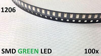 100pcs 1206 Green Smd Smt Superbright Leds Light Lamp Dash Usa