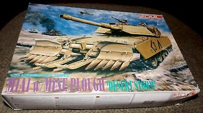 DML 1/35 M1A1 Abrams Tank with Mine Plow Blade -  Vintage Kit for sale  Shipping to Canada