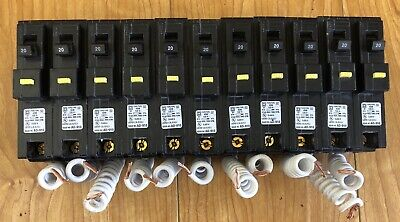 Square D Hom120gfi Hom120gfic 1 Pole 20 Amp Ground Fault Circuit Breaker Used