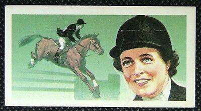 1 x Brooke Bond Tea Famous People Pat Smythe Blue 1969 No 49
