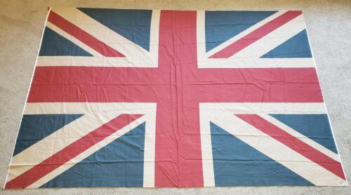 "Huge Union Jack Flag Printed Fabric Banner 58"" X 80"" Britain British Flag"