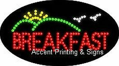 BREAKFAST Flashing & Animated Real LED SIGN ()