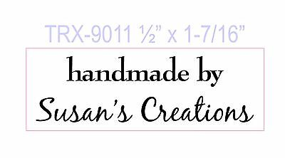 Custom Self Inking Rubber Stamp 2 Line New Personalized Handmade By Your Name