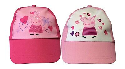 Peppa Pig - Authentic Sommer Kappe Hut Hellrosa / Dunkel Rosa Alter 3-6 Jahre ()