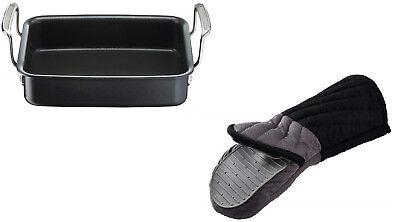 Silicone Bakeware Range - Tefal Jamie Oliver Italian Range Mini Roaster Black with FREE Silicon Oven Glove