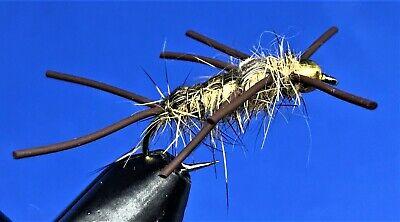 3 x Goldhead BLACK Hopper size 12 L//S hooks by Salmoflies Fishing Flies