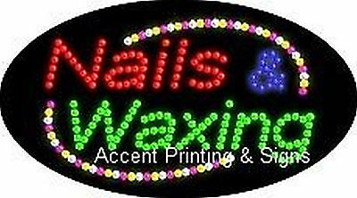 Nails Waxing Flashing Animated Real Led Sign